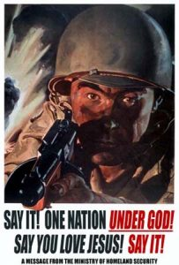 One nation under god point of gun