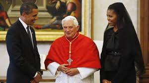 As close to the Pope as they could get Obama