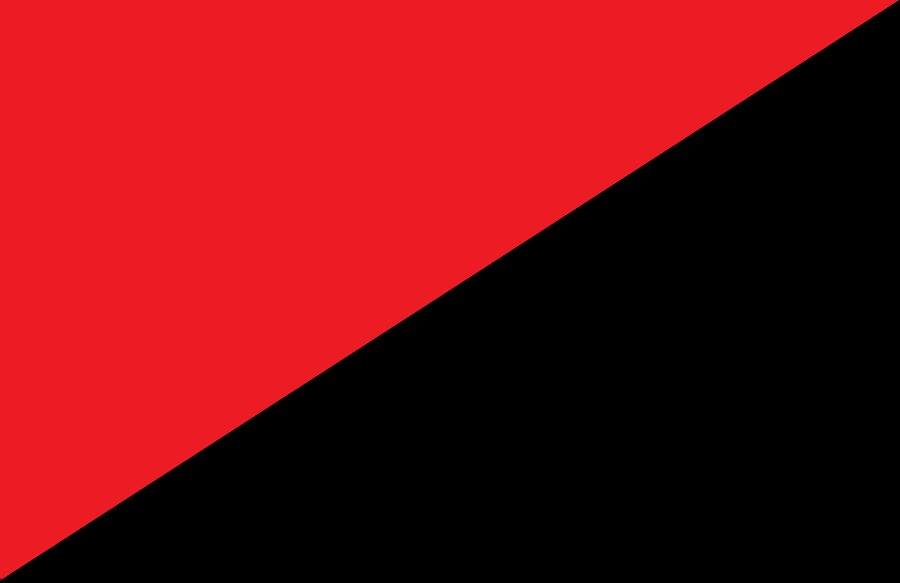 red black and left
