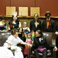 The most unusual wedding of the year was a masquerade ball on Halloween.