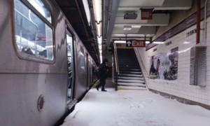 Subway Platform on 65th St. NYC