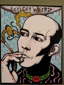 Hunter S. Thompson ©Darby Krow 2014