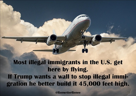 flying trump wall
