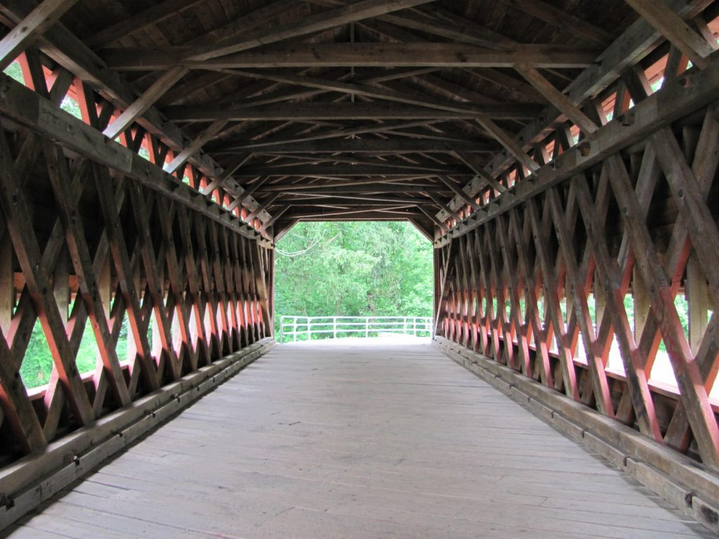 The interior of the bridge