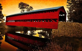 sunrise-reflections-over-covered-bridge-dave-sandt